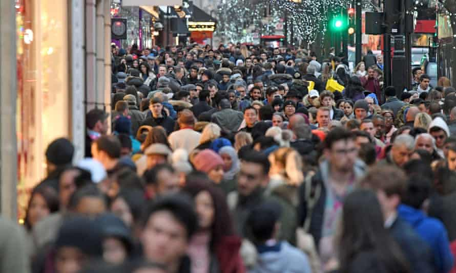 Oxford Street crowds at Christmas