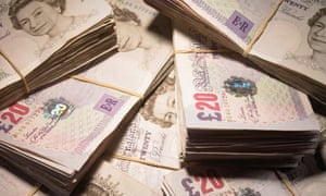 Piles of banknotes