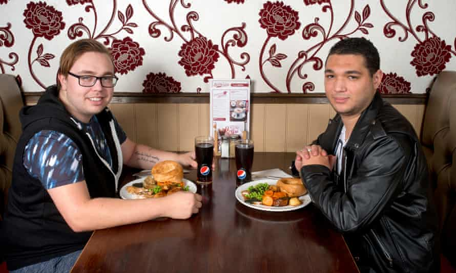 Jay Warn at the Toby Carvery with boyfriend Jordan.
