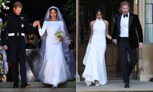 The Duchess of Sussex with her two dresses.