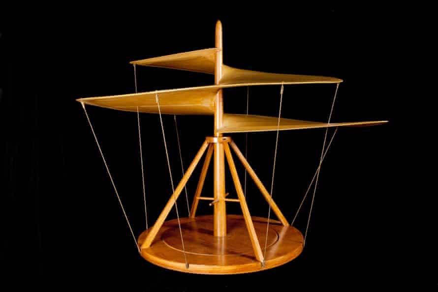 Leonardo da Vinci's design for an aerial screw.