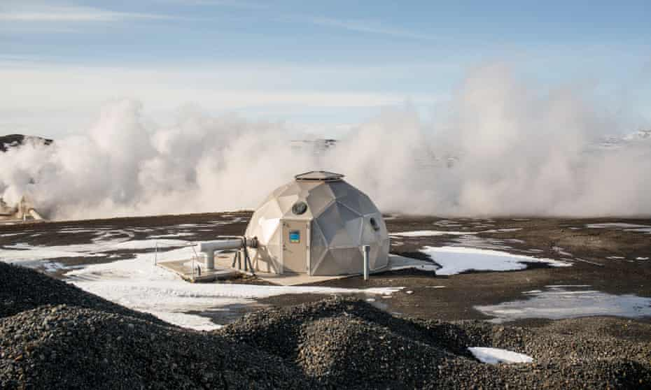 A geothermal power station near Lake Mývatn.
