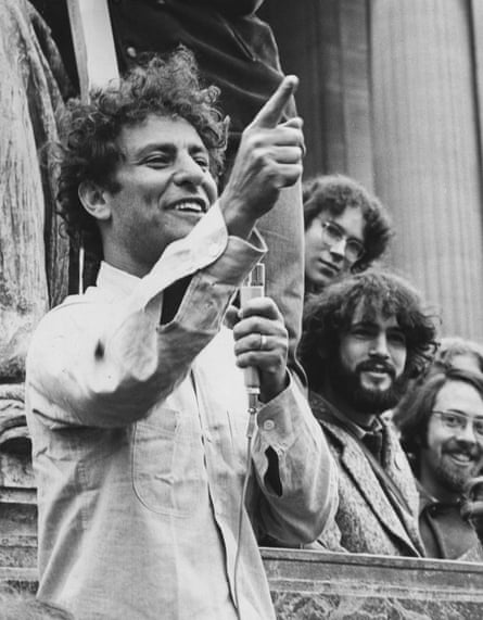 Abbie Hoffman at the 1968 uprising, in A Time to Stir