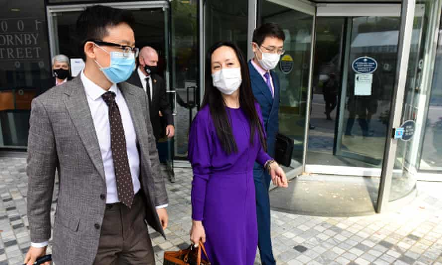 Meng Wanzhou returns to British Columbia supreme court on Wednesday in Vancouver, Canada, during her last extradition hearing.