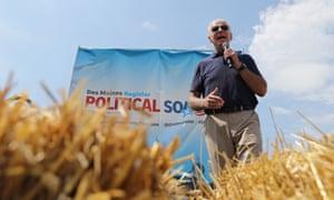 Joe Biden speaks at the Iowa state fair on Thursday.