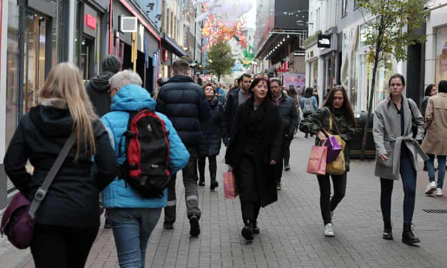 Shoppers in the West End of London in the buildup to Black Friday.