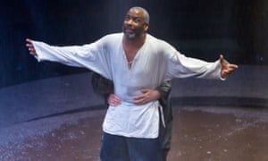 Don Warrington as King Lear at the Royal Exchange theatre in Manchester.