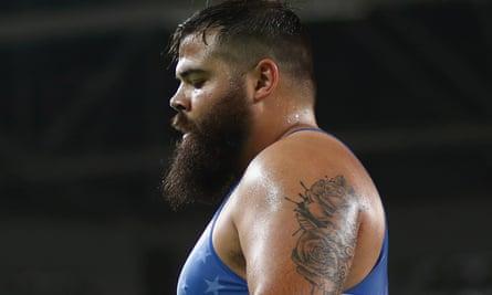 Robby Smith, US Greco-Roman wrestler, at Rio.