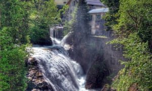 One of the Bad Gastein area's many waterfalls..