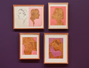Exhibition installation view of Adman: Warhol before pop, a collaboration between the Art Gallery of NSW and the Andy Warhol Museum