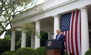 Trump speaks on Covid-19 testing in the Rose Garden of the White House on Monday.