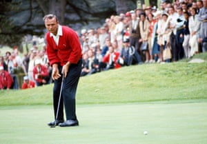 19 June 1966. Palmer in action during the US Open at Olympic country club, San Francisco.