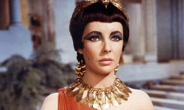 Spellbound … Elizabeth Taylor as Cleopatra, who was accused of witchcraft.