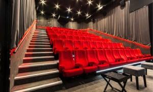 Red seats in Newlyn Filmhouse cinema, Cornwall