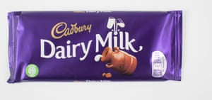 Cadbury Dairy Milk chocolate bar.