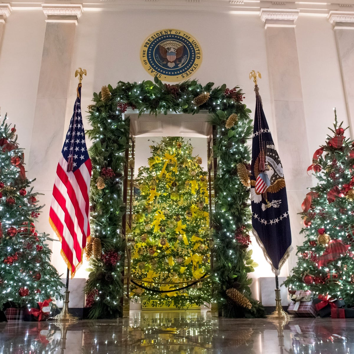 White House Different State Christmas Ornament 2021