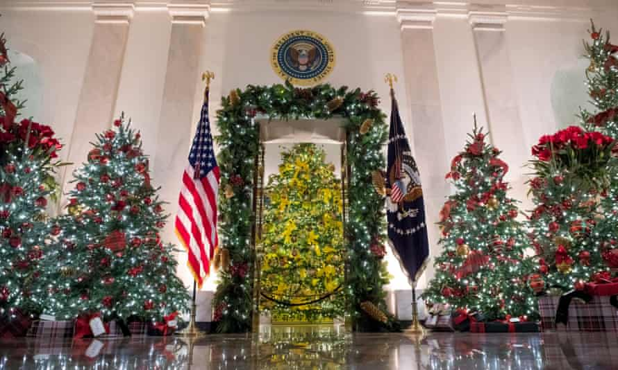 Despite public health guidelines warning against indoor gatherings, the White House has pressed ahead with as many as two dozen of its traditional holiday events.