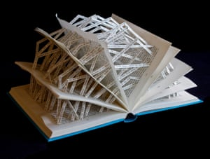 The Waves book sculpture by Stephen Doyle.