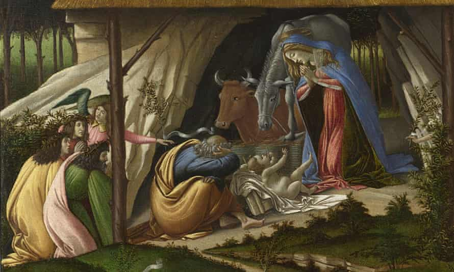 Foretells the end of days … a detail from Sandro Botticelli's Mystic Nativity (1500).