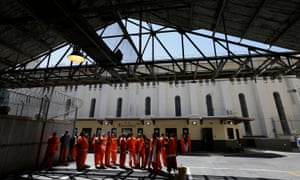 Prisoners at San Quentin in California. The strike is being largely organized by prisoners themselves.