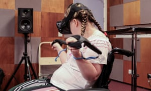 Mary Louise McCord works with the VR-driven EXA Infinite Instrument.