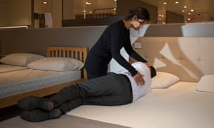Kapadia suggests taking a friend bed-shopping with you to check your alignment as you lie on a bed.