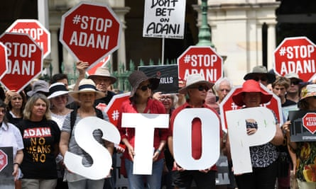 Protesters against the Adani coalmine in Brisbane