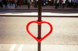 February of 2017 MyLondon calendar 'Love heart bike rack'
