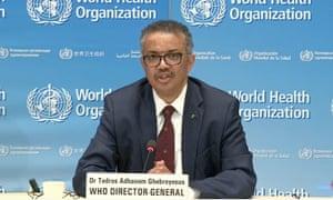Tedros Adhanom, the director general of the World Health Organization