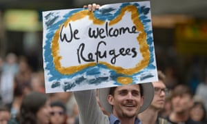 A pro-refugee march in Sydney