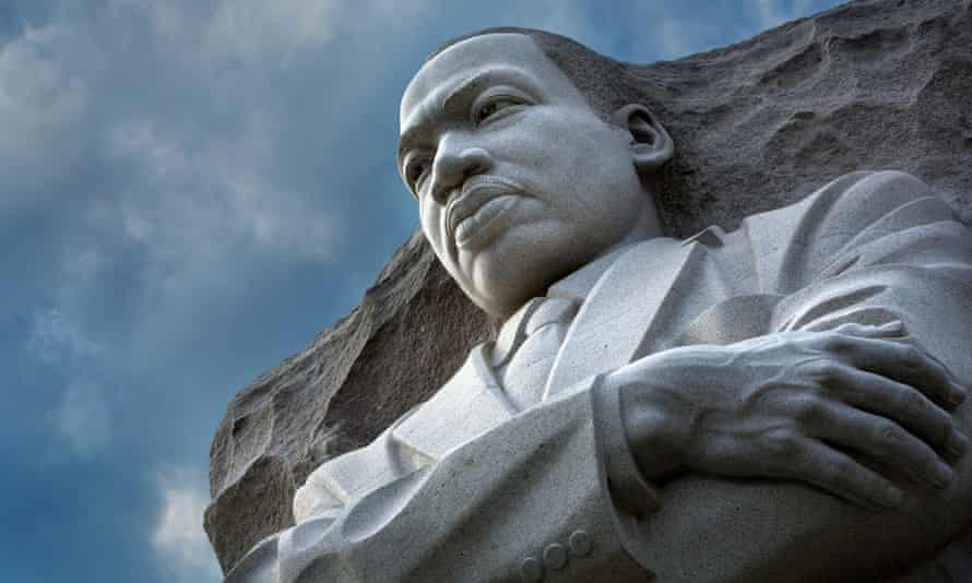 'A stone of hope': the Martin Luther King memorial.