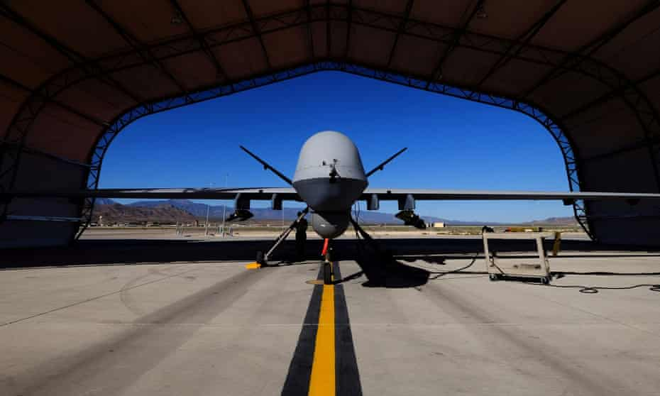 A US Reaper drone at a base in Nevada.
