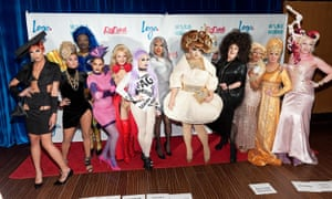 The season 8 cast of Rupaul's Drag Race.