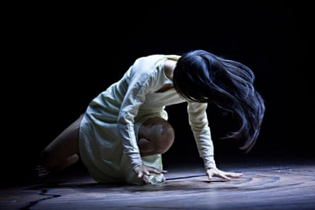 Ching-Ying Chien in rehearsal for <em>Until the Lions</em> at the Roundhouse.
