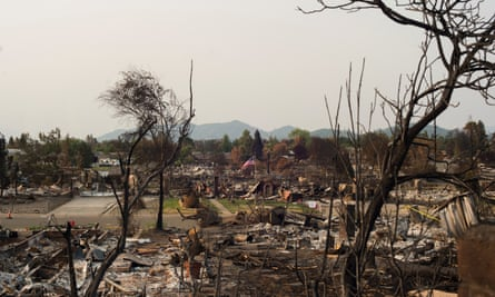 The Carr fire tore through Redding, destroying large swaths of the city and killing two firefighters.