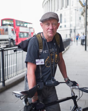 London bike courier Andrew Boxer.