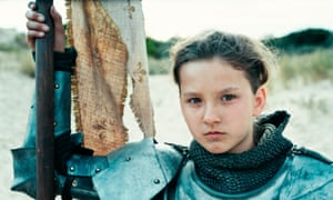 Marooned on the dunes … Lise Leplat Prudhomme as Joan of Arc.