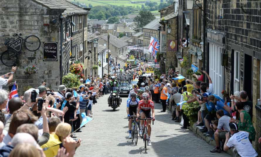 Stage two of the 2014 Tour de France passes through Haworth, West Yorkshire.
