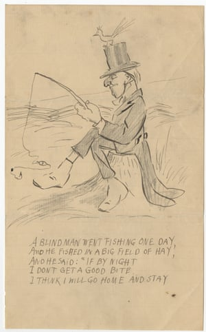 An illustrated comic verse by O Henry, written for his daughter, undated