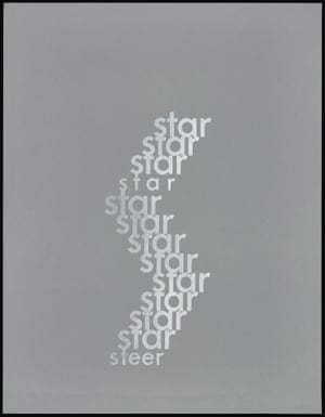 Star/Steer 1965 Ian Hamilton Finlay (Scottish, 1925–2006) Screen print Publisher: Tarasque Press, 1968