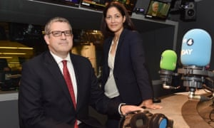 Andrew Parker, director general of MI5, with Today programme presenter Mishal Husain in the BBC Radio 4 studio on Thursday morning