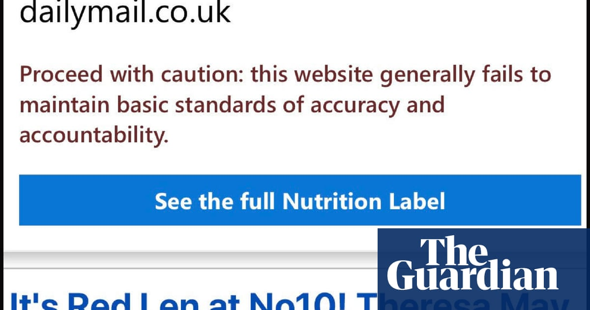 Don't trust Daily Mail website, Microsoft browser warns users