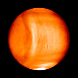 Also in January, images were released of giant wave in Venus's cloud tops, captured by the Akatsuki probe. The pressure wave in the planet's atmosphere was one of the largest ever seen in the solar system, stretching over 10,000 kilometres.