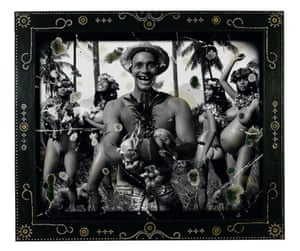 Tropical twist … Extradition with Fruit (2006). Photograph: © Ashley Bickerton, courtesy Lehmann Maupin Gallery.