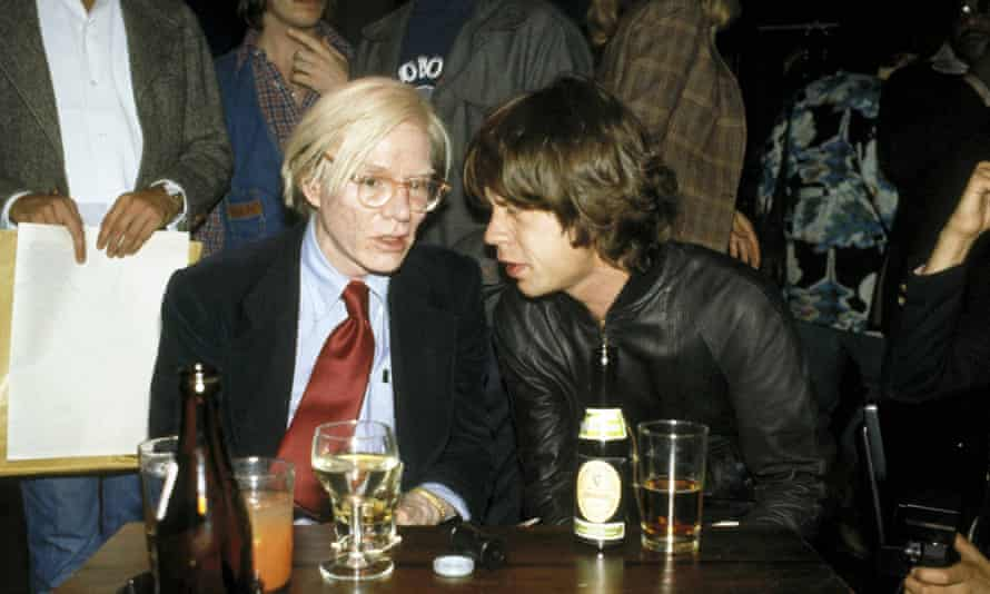 Andy Warhol and Mick Jagger at the kind of party Molly Prentiss revisits in Tuesday Nights in 1980