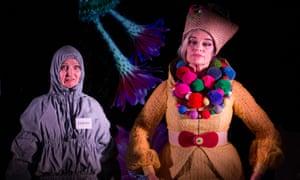 Shona Reppe and Christine Johnston in the 'deliciously imaginative' Baba Yaga.