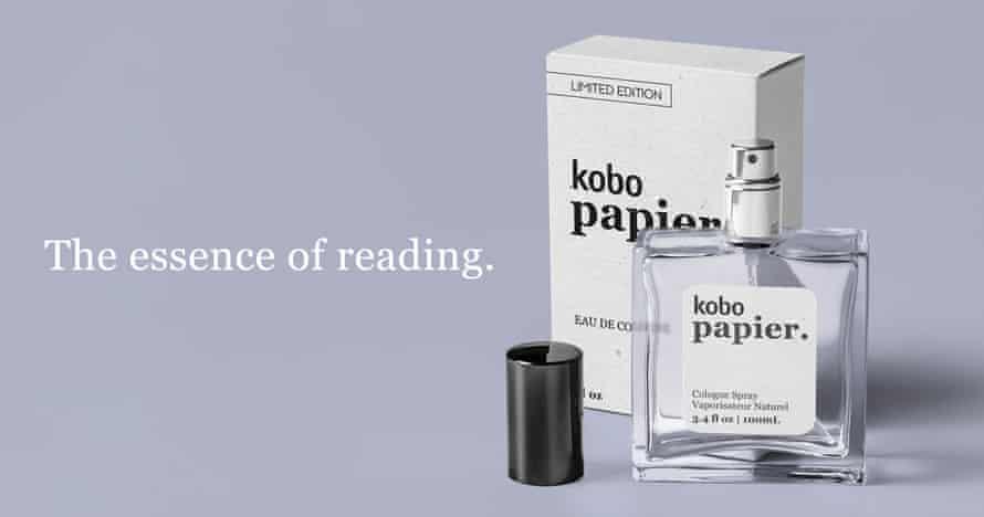 Rakuten Kobo's musty-paper perfume