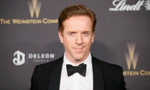 Charm in spades: Damien Lewis after the Golden Globes.
