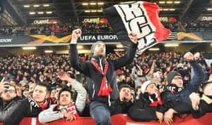 Rennes fans enjoy their run in the Europa League.