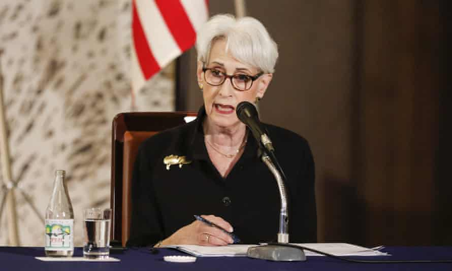The US deputy secretary of state, Wendy Sherman, speaks during a news conference in Tokyo this week. She will continue her Asian tour in China.